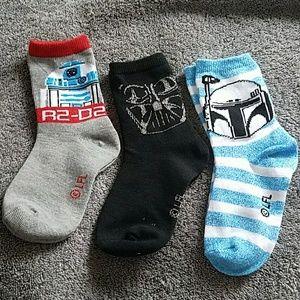 Kids star wars crew socks